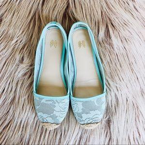 Victoria's Secret Mint Colored Lace Flat